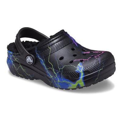 Crocs Black / Multi Kids' Classic Lined Out Of This World Clog Shoes