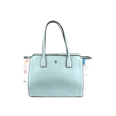 London Fog Tote Bag: Blue Solid Bags