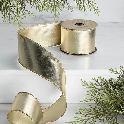 Metallic Foil Ribbon - Light Gol...