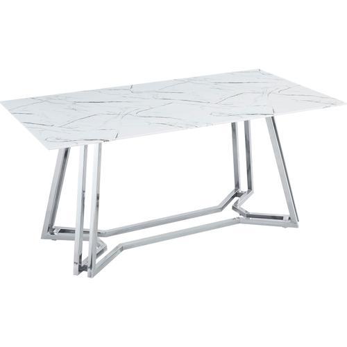 SalesFever Esstisch, in Marmoroptik weiß Esstisch Esstische Tische Möbel sofort lieferbar