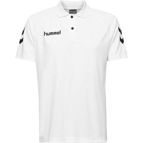 HUMMEL Herren Polo CORE FUNCTIONAL POLO, Größe M in Weiß