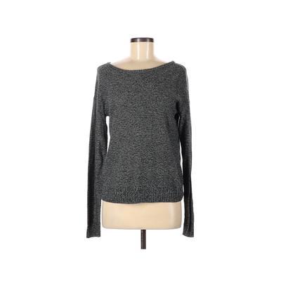 Arpeggio Knitwear Pullover Sweater: Gray Print Tops - Size Medium
