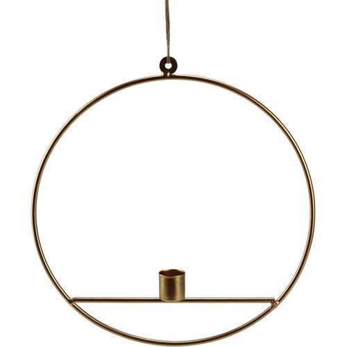 AM Design Kerzenhalter, aus Metall, Höhe ca. 27 cm goldfarben Kerzenhalter Kerzen Laternen Wohnaccessoires