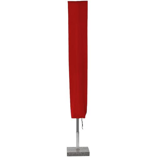 Planesium Abdeckplane für Sonnenschirm Rot 180cm x Ø 35cm Hülle Abdeckung Schutzhülle Haube Ampelschirm