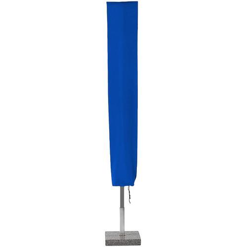Planesium Abdeckplane für Sonnenschirm Blau 160cm x Ø 62cm Hülle Abdeckung Schutzhülle Haube Ampelschirm