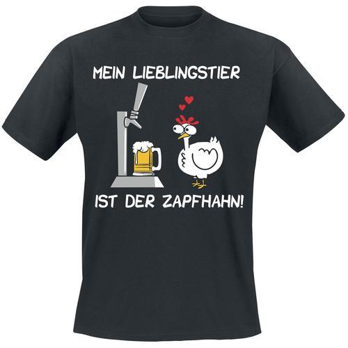 Mein Lieblingstier ist der Zapfhahn Herren-T-Shirt - schwarz