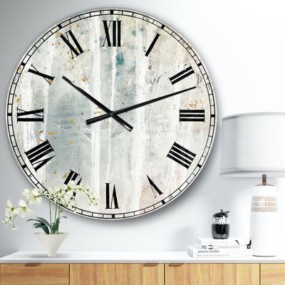 A Woodland Walk Into The Forest Vi Traditional Wall Clock by Designart in Beige