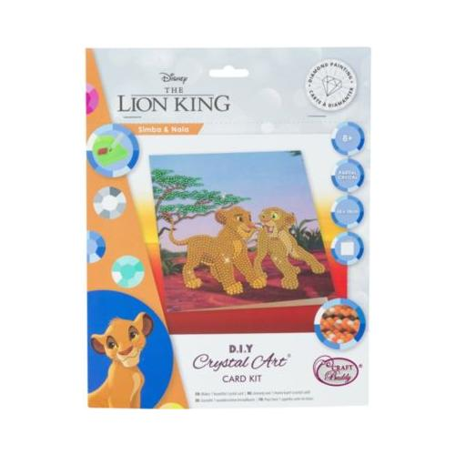 Crystal Art Disney König der Löwen - Simba and Nala, 18 x 18 cm Kristallkunst-Karte