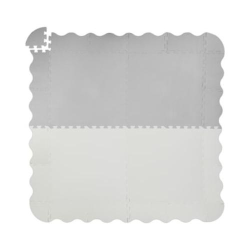Puzzlematte mit Rand 120 x 120 cm grau