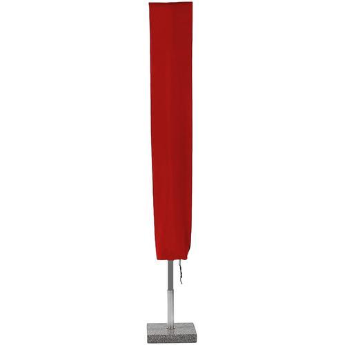 Planesium Abdeckplane für Sonnenschirm Rot 180cm x Ø 18cm Hülle Abdeckung Schutzhülle Haube Ampelschirm