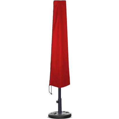Planesium Abdeckplane für Sonnenschirm Rot 185cm x Ø 25cm / 35cm Hülle Abdeckung Schutzhülle Haube Ampelschirm