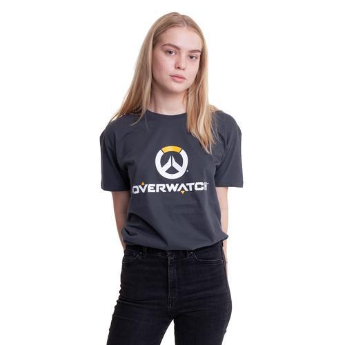 Overwatch - Logo Grey - - T-Shirts