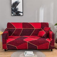 Canapé en géométrie rouge canapé léger de luxe canapé en coin de salon siège élastique en forme de l