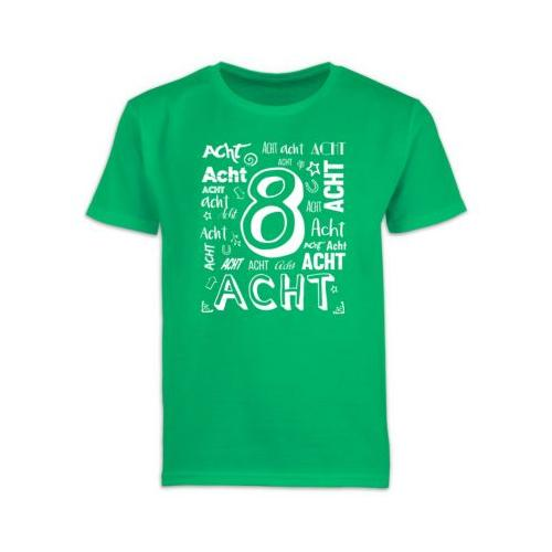 Kindergeburtstag Geburtstag Geschenk 8. Geburtstag Zahlen T-Shirts Kinder grün Kinder