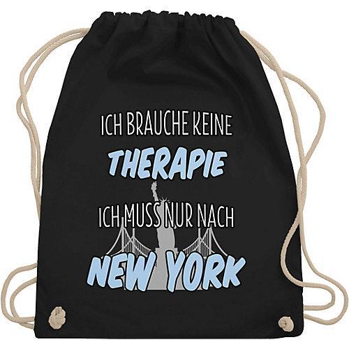 Städte Ich brauche keine Therapie ich muss nur nach New York Turnbeutel Jungen schwarz Kinder