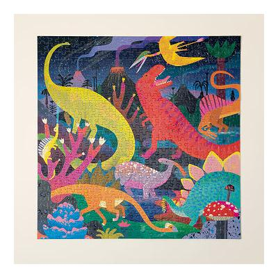 Glow-in-the-Dark Dinosaur Fossil Puzzle
