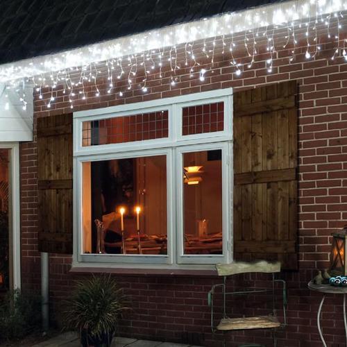 LED-Eiszapfenvorhang, 180 LEDs, 360x60 cm