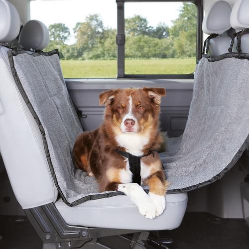 TRIXIE Rücksitzschoner für Hunde 160x145 cm Hellgrau