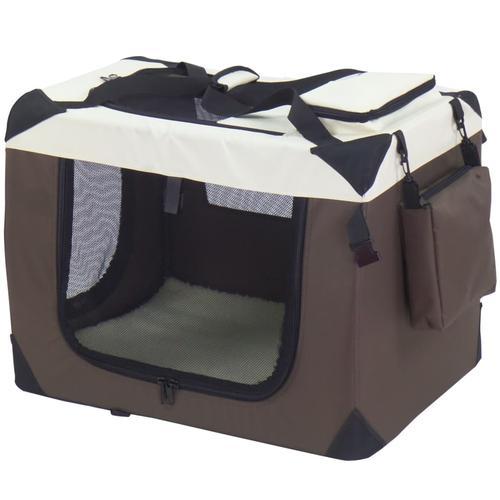@Pet Hundetransportbox Braun 90x61x65 cm Nylon