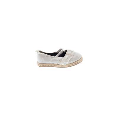 Koala Kids Flats: White Solid Shoes - Size 9