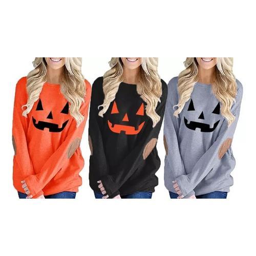 Halloween Damen-Top / Orange / Gr. S / 1