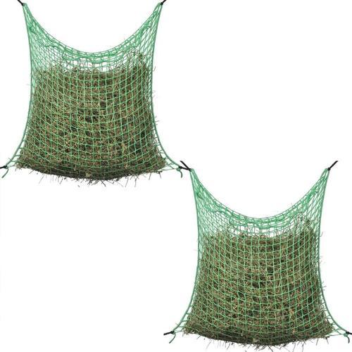Heunetze 2 Stk. Quadratisch 0,9x3 m PP - Grün