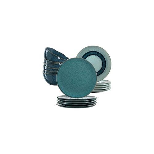 Leonardo MATERA Geschirr Tafelservice blau 18-teilig