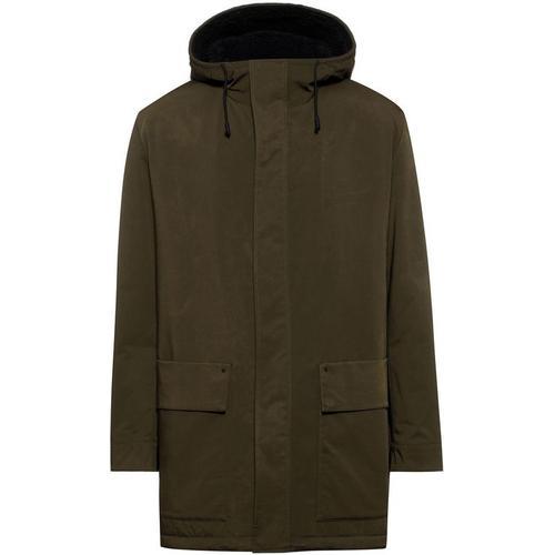 HUGO Wasserabweisender Regular-Fit Mantel mit Logo-Aufnäher