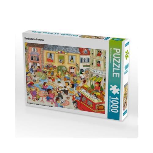 Dorfplatz im Sommer Foto-Puzzle Bild von Marion Krätschmer Puzzle