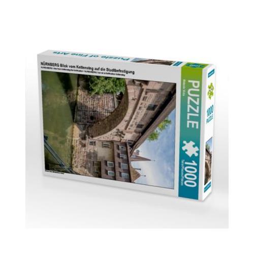 NÜRNBERG Blick vom Kettensteg auf die Stadtbefestigung Foto-Puzzle Bild von Melanie Viola Puzzle
