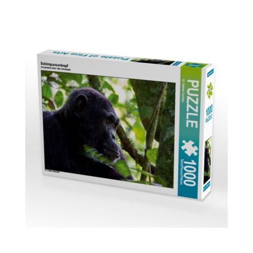 Schimpansenkopf Foto-Puzzle Bild von Hawkeyes-Pictures Puzzle