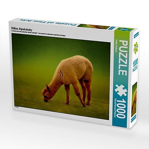 Süßes Alpakababy Foto-Puzzle Bild von Heike Hultsch Puzzle