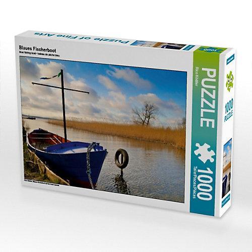 Blaues Fischerboot Foto-Puzzle Bild von Rico Ködder Puzzle