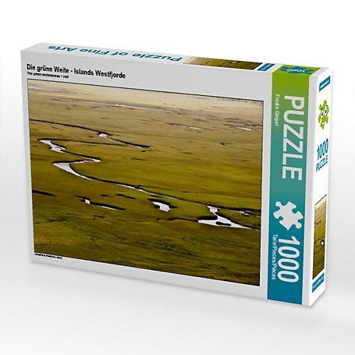 Die grüne Weite - Islands Westfjorde Foto-Puzzle Bild von Trans Pond Puzzle