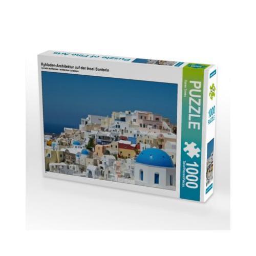 Kykladen-Architektur auf der Insel Santorin Foto-Puzzle Bild von Rainer Tewes Puzzle