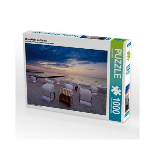 Strandkörbe am Strand Foto-Puzzle Bild von Rico Ködder Puzzle