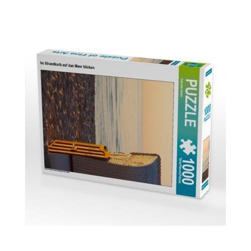 Im Strandkorb auf das Meer blicken Foto-Puzzle Bild von Gabriele Hanke Puzzle