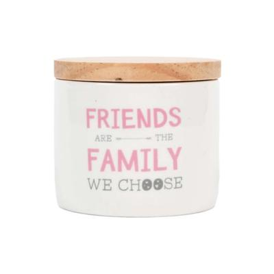 New View White Friends Are the Family We Choose Candle