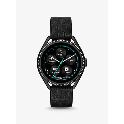 Michael Kors Access Gen 5E MKGO Black-Tone and Logo Rubber Smartwatch Black One Size