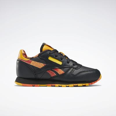 Reebok Unisex National Geographic Classic Leather Shoes - Preschool in Coal/Gravel/Trek Gold Size 3 - Lifestyle Shoes