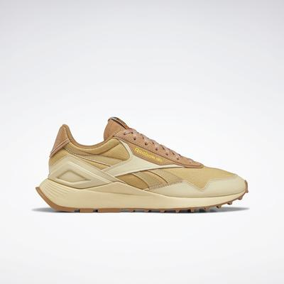 Reebok Unisex National Geographic Classic Leather Legacy AZ Shoes in Straw S18-r/Soft Camel/Boldly Yellow Size M 9.5 / W 11 - Lifestyle Shoes