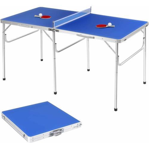 Tischtennisplatte klappbar, Tischtennistisch, Tischtennis Platte mit Netz, Zwei Schlaegern