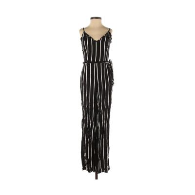 Forever 21 Jumpsuit: Black Print Jumpsuits - Size Small