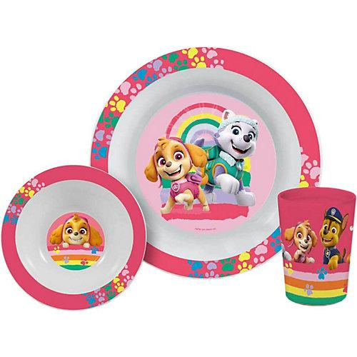 Paw Patrol Frühstücksset Mädchen 3-teilig Kindergeschirrsets pink