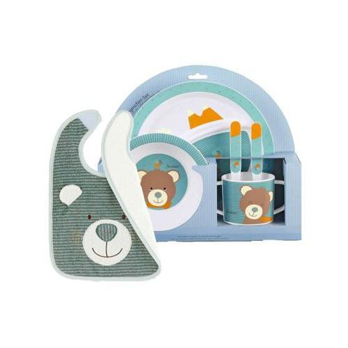 Ben Bär Kindergeschirr mit Lätzchen 6-tlg Kindergeschirrsets bunt