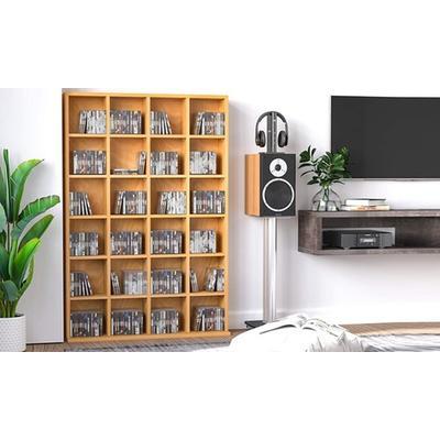 Media Storage Shelf: Beech Wood
