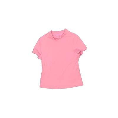 Lands' End Rash Guard: Pink Solid Sporting & Activewear - Size Medium