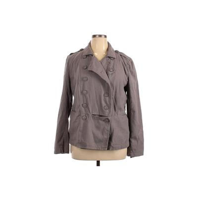Leith Jacket: Gray Solid Jackets & Outerwear - Size X-Large