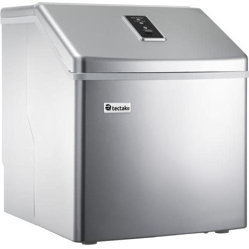tectake Eiswürfelmaschine für klare Eiswürfel - silber - 400162