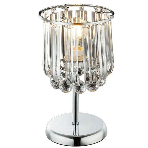 Design Chrom Tisch Lampe Leuchte Beleuchtung Kristalle Globo 15303T